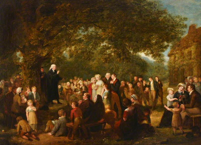 John Wesley Preaching in Ireland, 1789