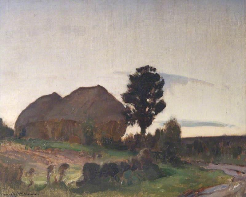 Haystacks, Evening