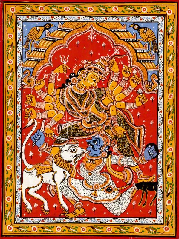 Durga and the Buffalo Demon Mahishasura