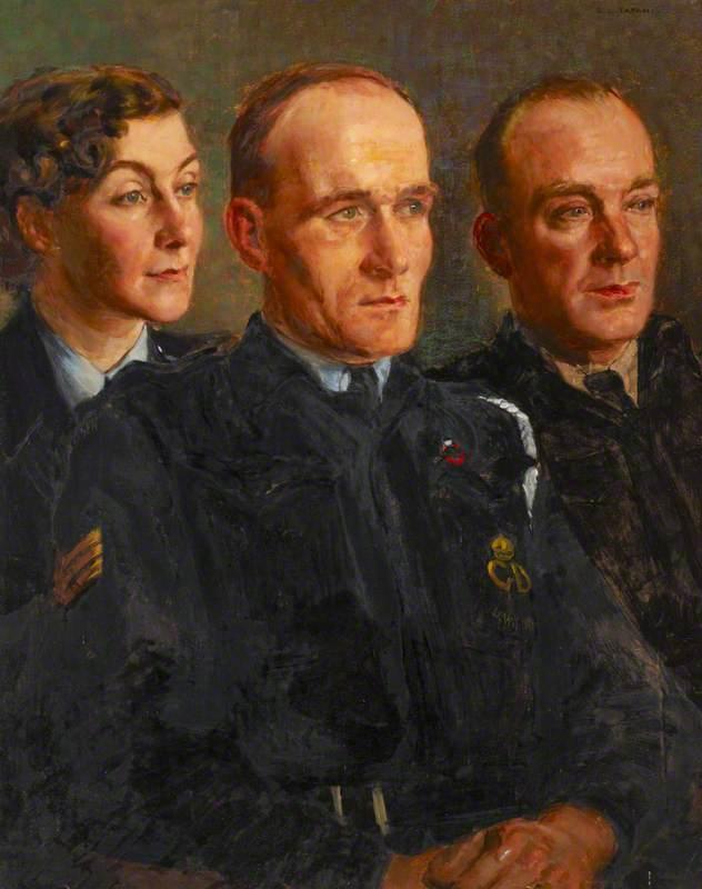 Three Air Raid Wardens