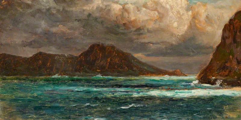 Rocky Headland at Evening