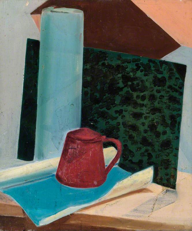 Cubist Composition with a Red Pot