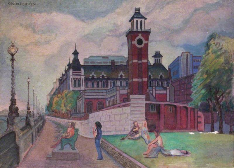 St Thomas's Hospital and the Embankment, London