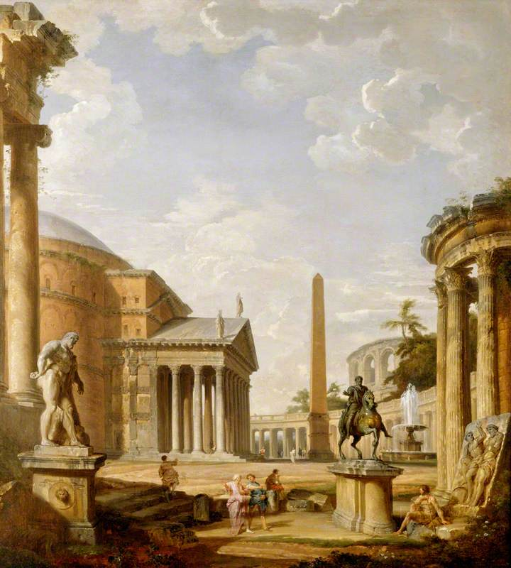 Roman Landscape with the Pantheon