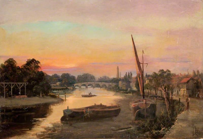 Kew, Surrey, at Sunset, Kew Bridge