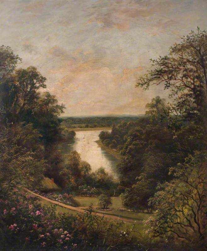 The Thames from the Terrace Gardens, Richmond, Surrey