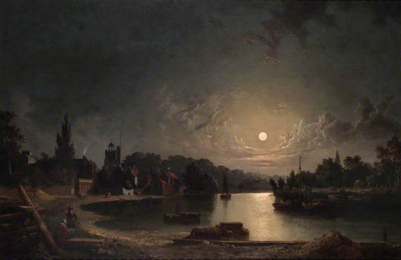 Twickenham, Middlesex, by Moonlight