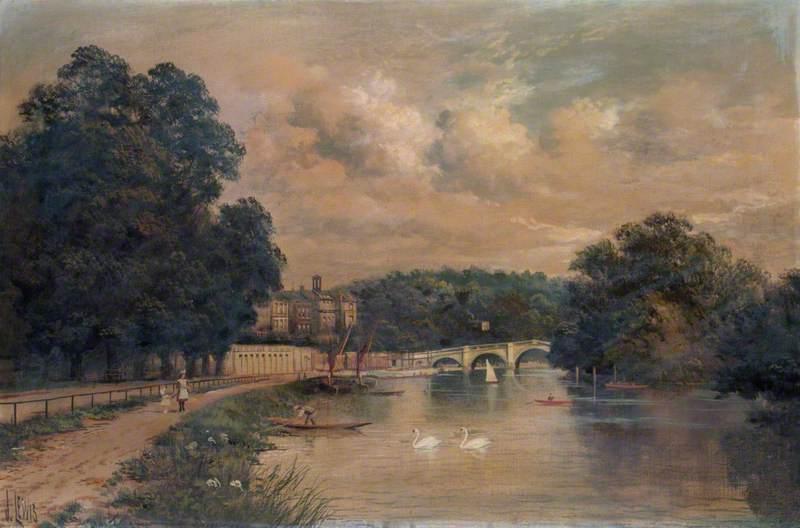 Richmond Bridge, Surrey, from Cholmondeley Walk