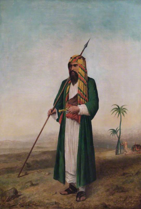 Sir Richard Francis Burton (1821–1890), in Arab Dress