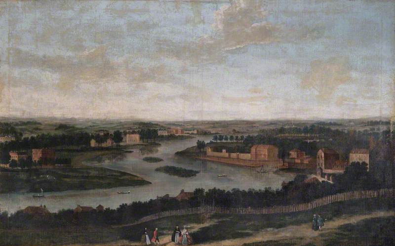 View from Richmond Hill, Surrey, Looking North West