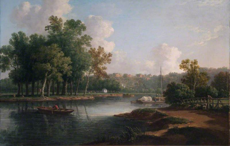 The Thames Looking towards Richmond Hill, Surrey