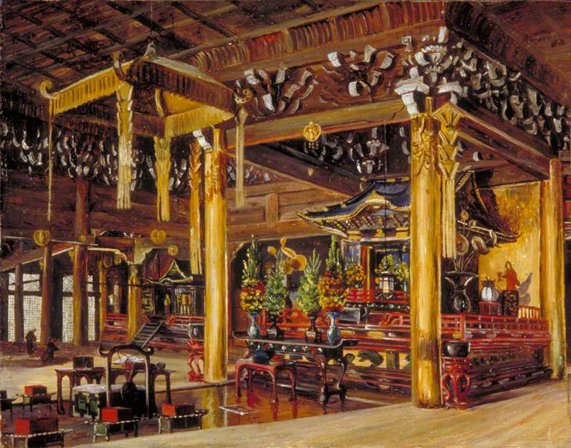 Interior of Chion-in Temple, Kioto, Japan