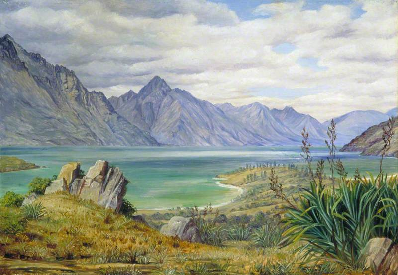 View of Lake Wakatipe, New Zealand
