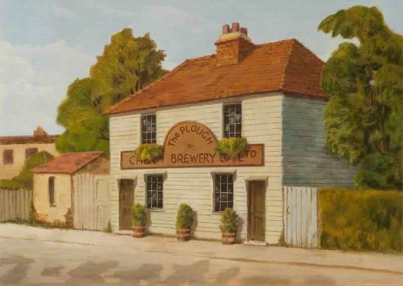 'The Plough' Inn, Sutton Common Road, 1912