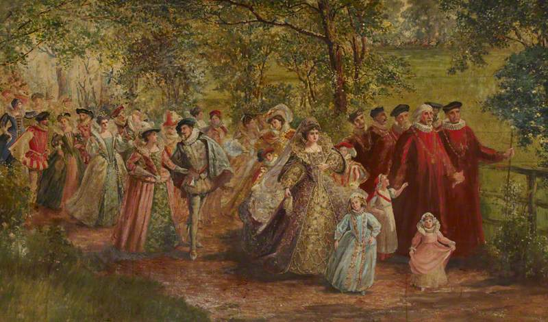 A Group from the Scene 'The Coronation Procession of Edward VI, 1547' in the Church Pageant, Bishop's Park