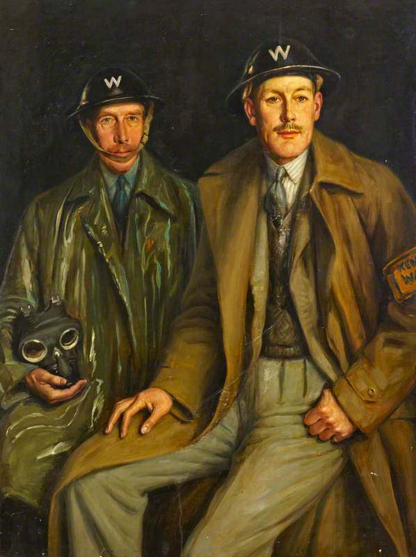 Two Air Raid Wardens, Lieutenant Colonel Eastman and Major Stepney