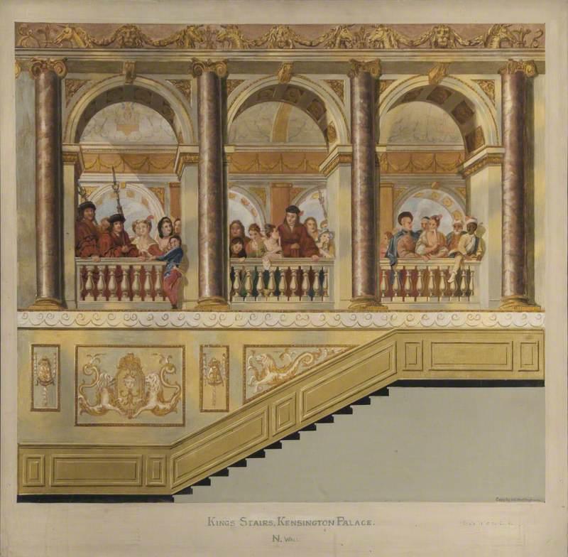 King's Stairs, Kensington Palace, North Wall