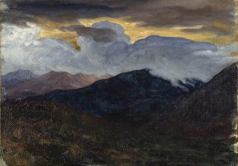 Sketch for Landscape Background for 'David'