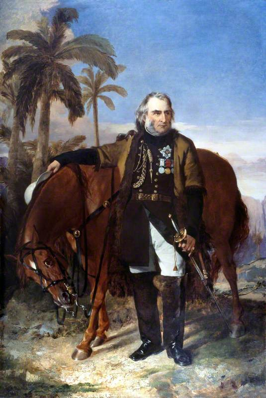 Lieutenant General Sir Charles Napier (1782–1853), and his Arab Charger 'Red Rover'
