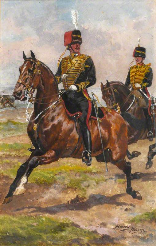 A Mounted Officer and Trooper of Royal Horse Artillery