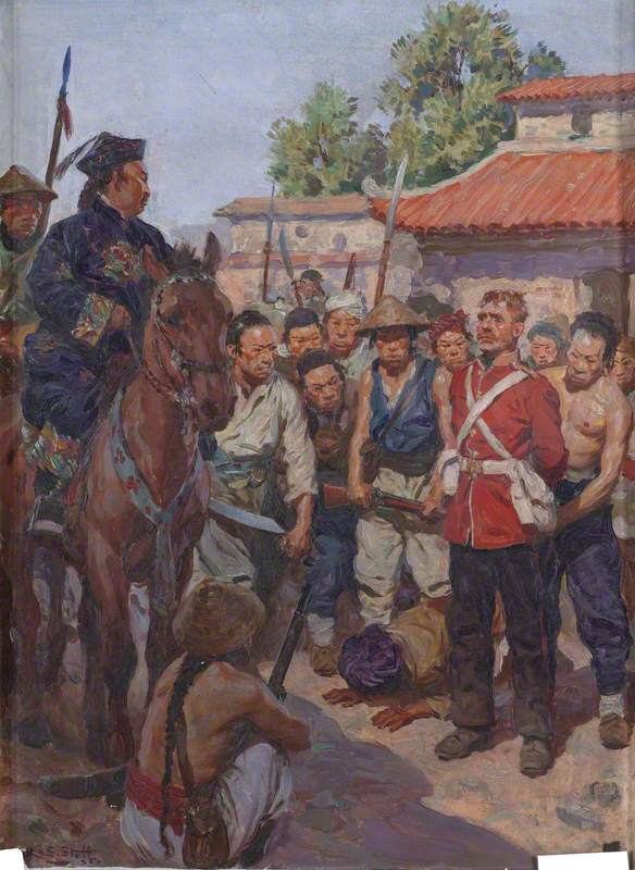 Private John Moyse, The 3rd (East Kent, The Buffs) Regiment of Foot, Refusing to Kow-Tow before the Tartar Mandarin Tsan-koo-lin-sin, 2nd China War, 1860