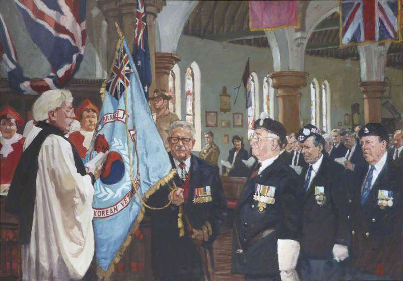 The Dedication of the British Korean Veterans Association Surrey West Branch Standard at the Royal Garrison Church of All Saints, Aldershot, 20 October 1996