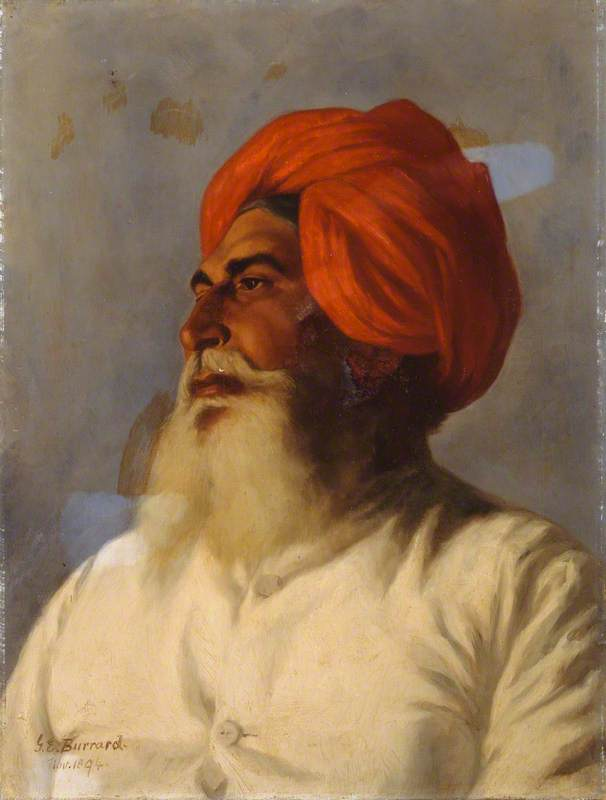 Ganda Singh, a Sikh Chaprasi (messenger) of Colonel Wilmer's Topographical No. 14 Survey Party