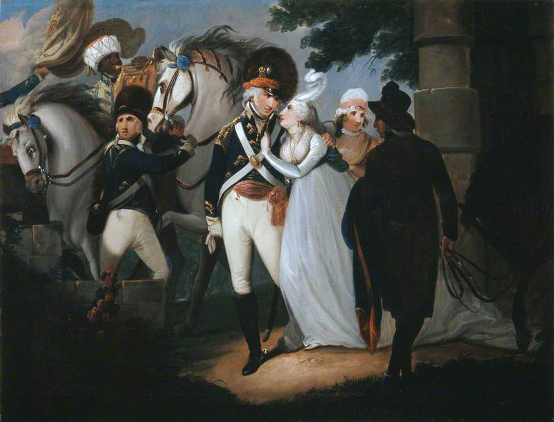 An Officer of Light Dragoons Taking Leave of His Wife
