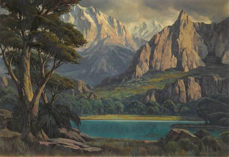 Lake by Mountain Range (War Eagles)