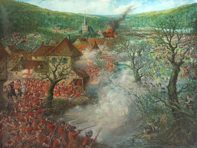 Battle Scene outside a Town