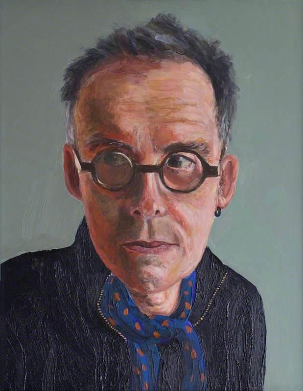 Self Portrait with Scarf