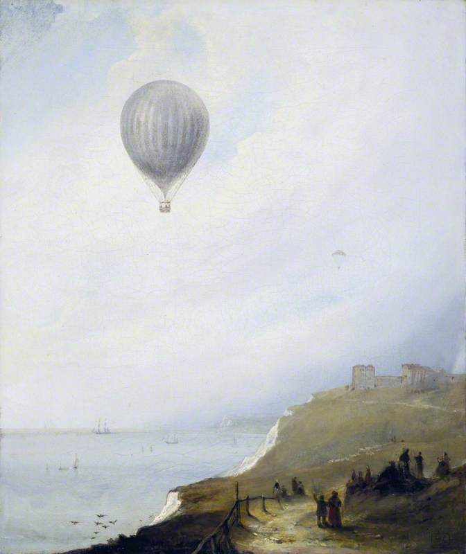 Balloon over Cliffs