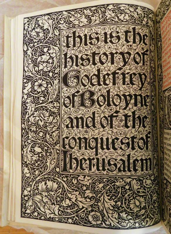 Kelmscott Press Edition of 'Godefrey of Boloyne' by William Caxton