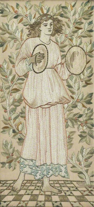 Minstrel with Cymbals Embroidery