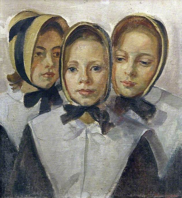 Dorothy James, Barbara Murray and Marion Lloyd, Young Ladies of the Liverpool Blue Coat School