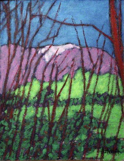 Blencathra, Cumbria, through Trees