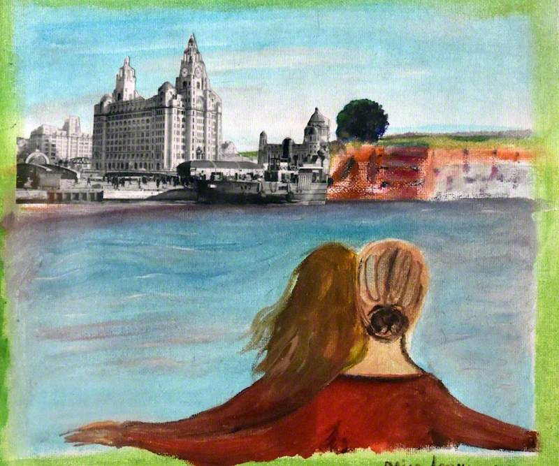 Two Women by the River Mersey