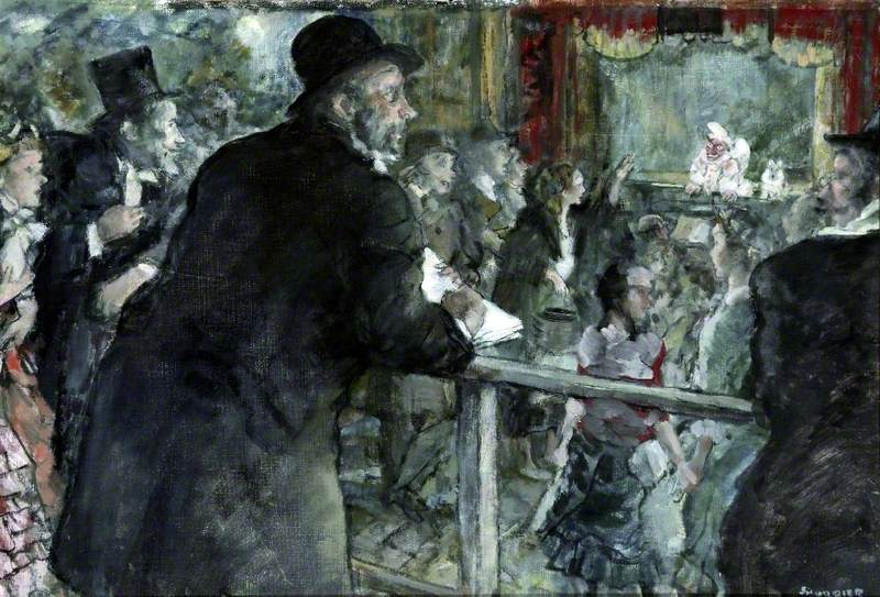 M. Degas at the Guinol