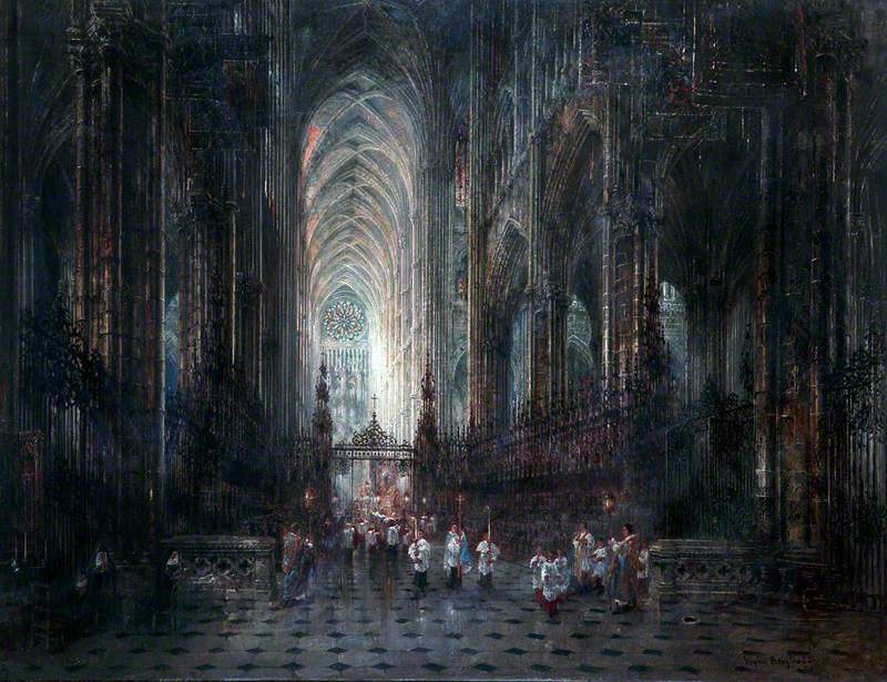 Evening, Amiens Cathedral, France