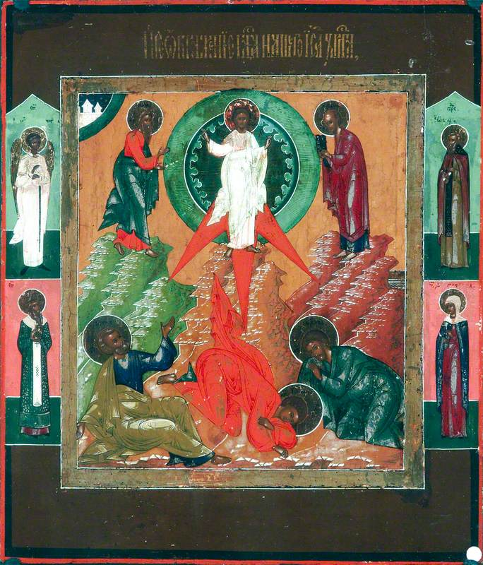Icon with the Transfiguration of Our Lord Jesus Christ