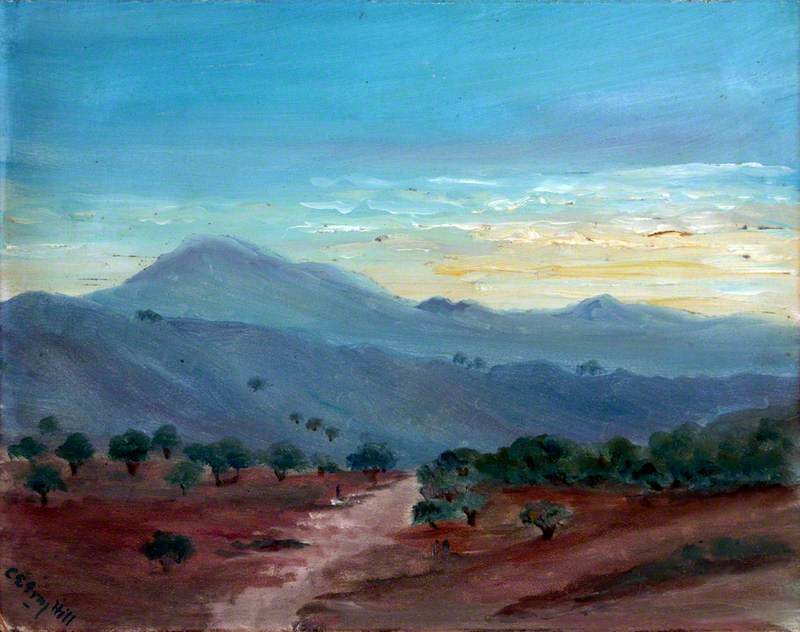 Valley with Olive Trees