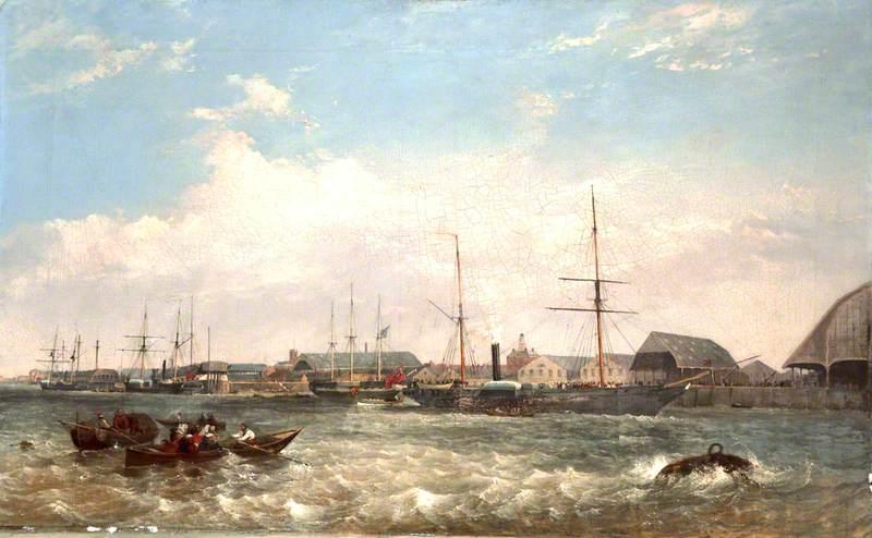Prince Albert visits Three Iron Steam Ships