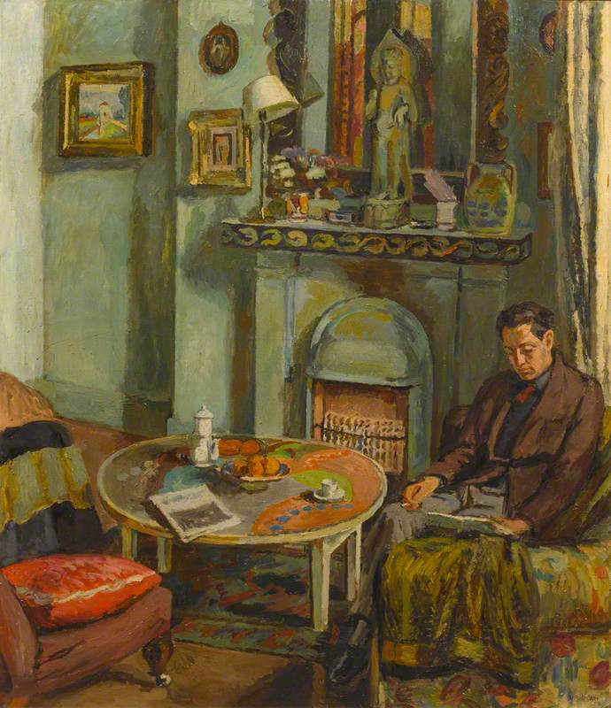 Interior with Duncan Grant (1885–1978)