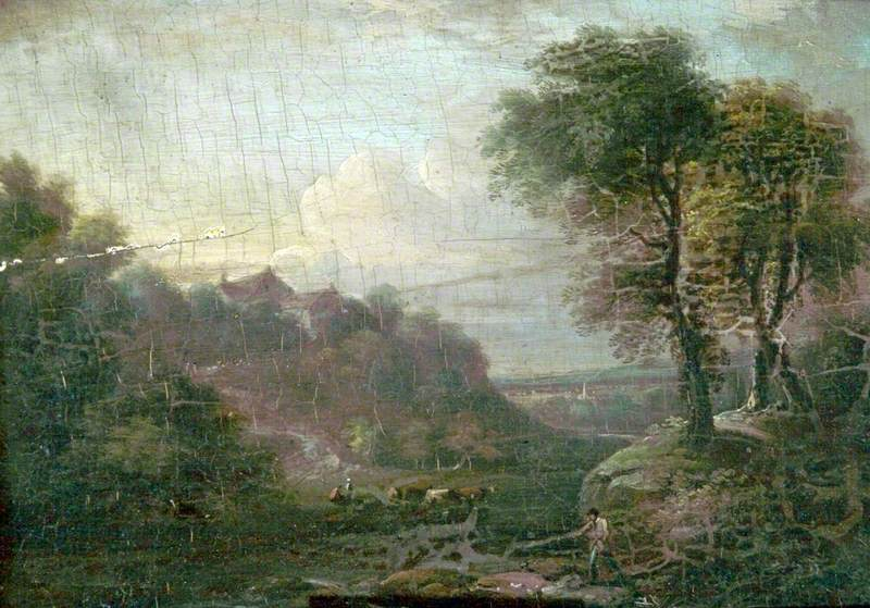 Landscape, Cattle and Figures