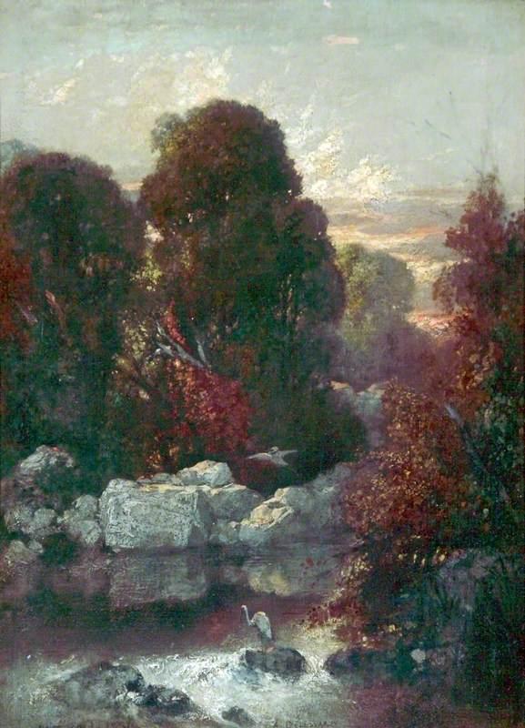 Landscape with Storks