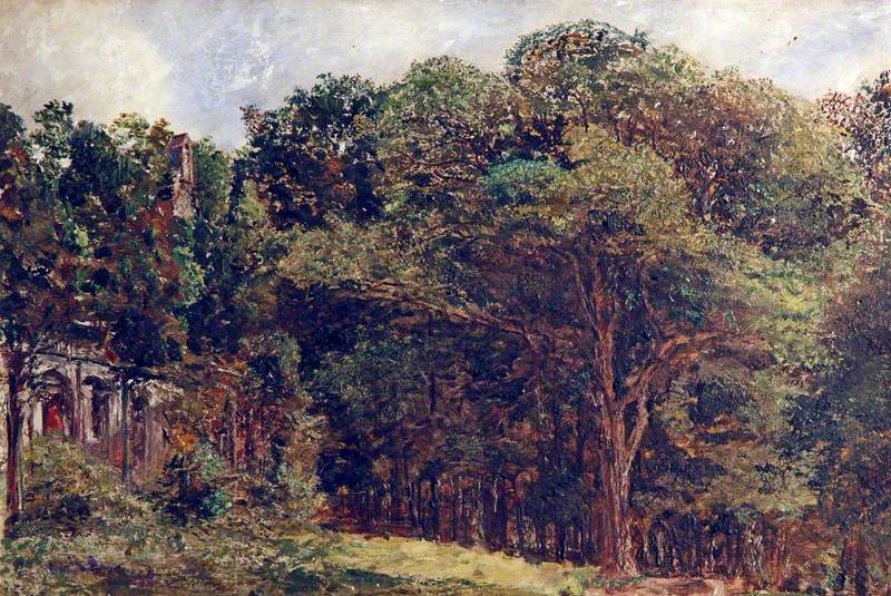 Landscape with Trees and a Ruin