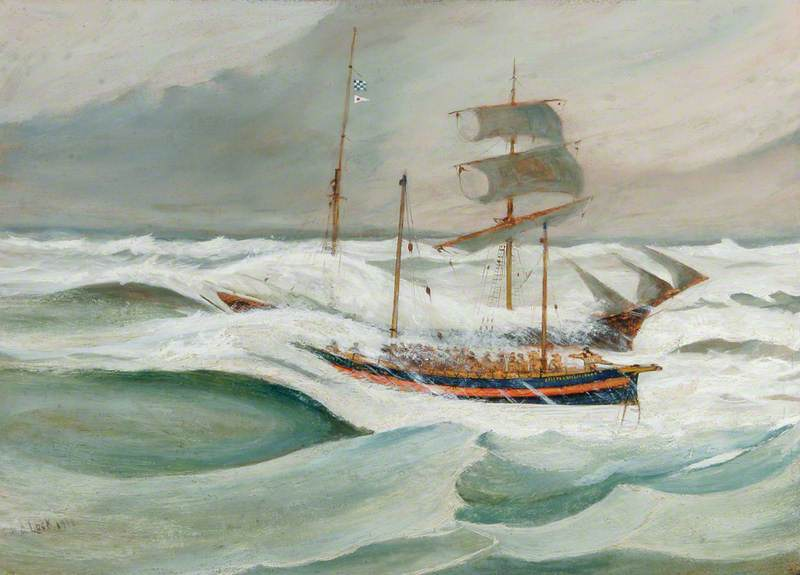 Rescue of the Crew, Schooner 'Falke'