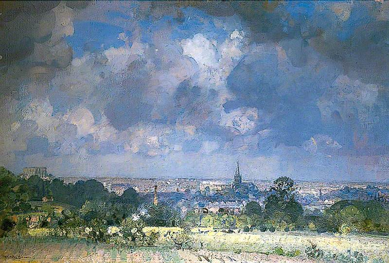 View of Norwich from the Bungay Road, Norfolk