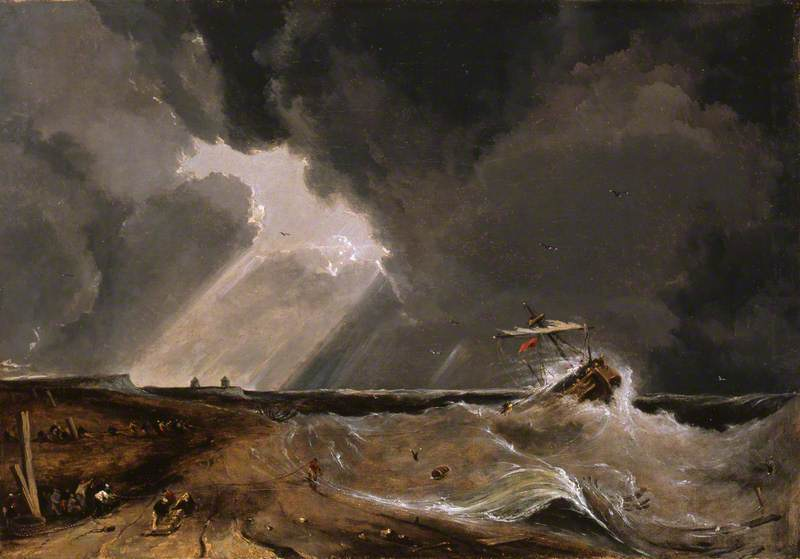 Saving the Crew and Passengers from the Brig 'Providence', Wrecked off Winterton, on 15th April 1815