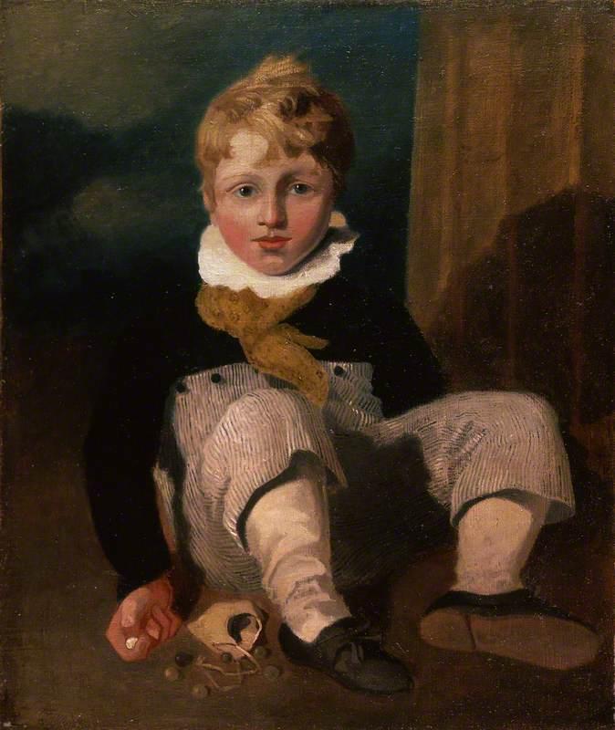 Boy at Marbles